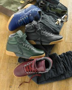 166d967e79c0 Reebok Classics Introduces the Workout Mid Peanut Butter Ice   the Ex-o-fit  Plus Hi D-Ring for their Fall Winter 2012 Collection. Nike TightsNike BootsNike  ...