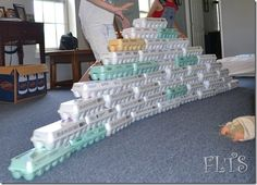 Build with egg cartons--