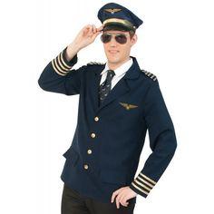 Klassische Piloten Jacke für Herren für 57,49€. Goldene Knopfleiste, Dekorative Goldborte, Ideal auch als Paarkostüm geeignet bei OTTO Hot Army Men, Captain Hat, Suit Jacket, Suits, Fashion, Pair Costumes, Classic, Jackets, Moda