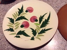 "Vintage Stangl Thistle Dinner Plate 10-1/8"" Mid-Century Pottery China"