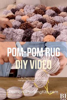 Daily Viral DIY Videos: DIY Pom-Pom Rug, Air Plant Holders, PVC Hanging Planter