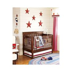 Junior Varsity Nursery | Pottery Barn Kids ($16) ❤ liked on Polyvore featuring babies, rooms and baby stuff