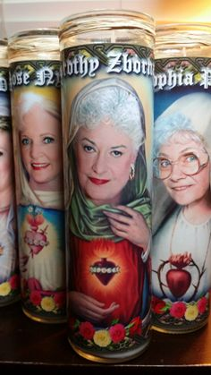 "Golden Girls Dorothy Candle -  Dorothy Zbornak AKA Bea Arthur - 8""  80's TV Tribute Devotional Candle  - Heavenly geekery"