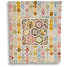 Brigitte Giblin -  & purse patterns using hexagons, clamshell & English medallion piecing & applique