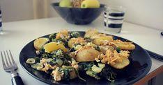 zapečené brambory se špenátem