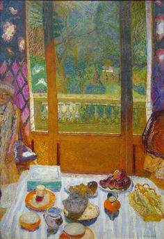 Pierre Bonnard Dining Room Overlooking the Garden (The Breakfast Room). 1930-31. (by Maulleigh)