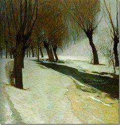 Carl Moll WinterInPreinbach 1904 PrivateCollection-Vienna