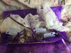 An Open Gift Box of Skin Therapy Bath Bags by EssentialApothecary