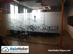 Conference Room Frosted Window Graphics Create Impressive Workspace - Portland, OR Office Interior Design, Office Interiors, Glass Partition Designs, Window Graphics, Retail Space, Conference Room, Frosted Window, Frosted Glass, Windows