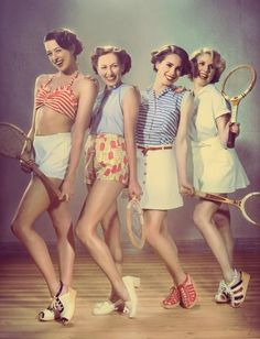 '50s retro style hair and style...