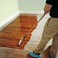 How to Refinish Wood Floors (without sanding) ill be glad i repinned this some day! :)
