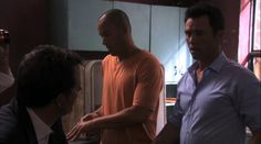 "Burn Notice 4x08 ""Where There's Smoke"" - Michael Westen (Jeffrey Donovan), Jesse Porter (Coby Bell) & Christian Aikins (Steven Culp)"