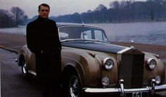 Cary Grant and his Silver Cloud.