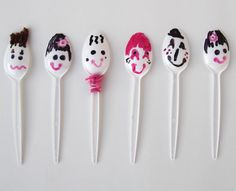 "Spoon puppets! tlhese are hilarious. And they would be great with Amy Krouse Rosenthal's book ""Spoon"""