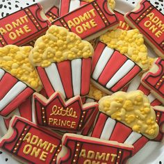 Movie Night/ Popcorn/ Hollywood Cookies by LittlePrinceCookies