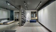 Wohnung mit Akzent Wand aus Rost - Schlaf- und Bürobereich