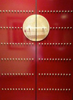 Chinese lacquered door by 1CheekyChimp, via Flickr