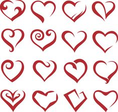 Different Heart icons design vector set 04 - Other Icons, Vector ...