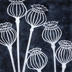 yellow house art licensing - artists - H I J K - black poppy seedheads Doodle Drawing, Doodle Art, Motifs Art Nouveau, Linoprint, Sgraffito, Art Graphique, Linocut Prints, Textile Art, Flower Art