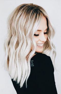 Balayage blonde racine