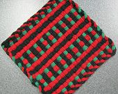 Items similar to Ornament Woven Potholder on Etsy Pin Weaving, Weaving For Kids, Tapestry Weaving, Loom Weaving, Potholder Loom, Potholder Patterns, Dishcloth, Crochet Patterns, Nifty Crafts