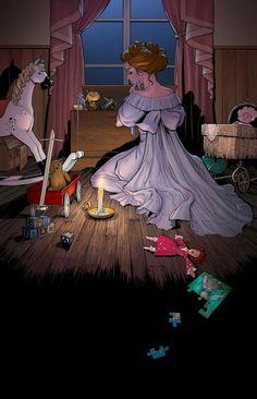 The Art of Renae De Liz: Peter Pan: Mrs. Darling