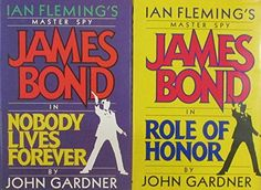 Author John Gardner Two Book Bundle of Ian Fleming's Master Spy, Includes: James Bond in Nobody Lives Forever and Role of Honor Resale Store, James Bond, Textbook, Household, Author, Electronics, Amazon, Toys, Activity Toys