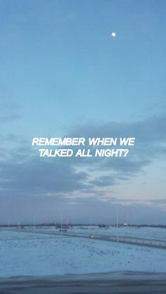 Recuerdas cuando hablamos toda la noche