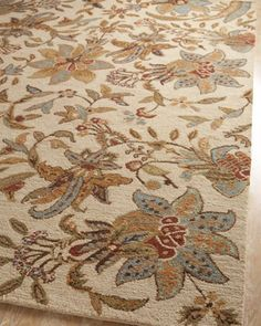 Ivory Jacobean Rug At Horchow