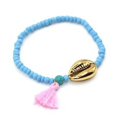 Real Shell with High Quality Silver Plated Seed Beads Bohemia Style Tassel Women Bracelet Cheap Bracelets, Metal Bracelets, Bangle Bracelets, Fashion Bracelets, Fashion Jewelry, Women Jewelry, Bracelet Strass, Bohemia Style, Shell Bracelet