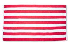 Cabana Stripe Beach Towel, Cayenne/White