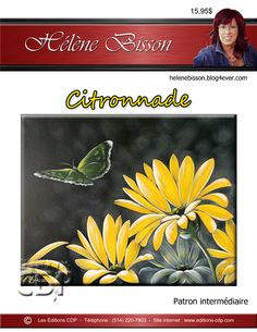 1- Citronnade Ecole Art, Creative, Painting, Flowers, Painting Classes, Painting On Wood, Canvas, Daisies, Visual Arts