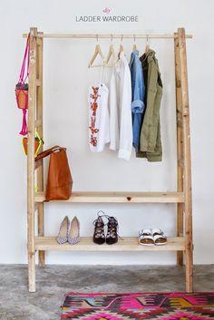DIY Inspirador: Arara de roupas