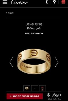 Cartier Love ring classic collection