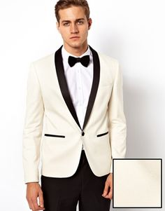 ASOS Slim Fit Tuxedo Suit Jacket- Classic Look