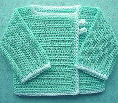 Baby It's Cold Outside pattern by Julie Armstrong Holetz Crochet , Baby It's Cold Outside pattern by Julie Armstrong Holetz Very sweet crochet baby cardigan Pre deti. Crochet Baby Cardigan Free Pattern, Boy Crochet Patterns, Crochet Baby Sweaters, Crochet Baby Jacket, Crochet Coat, Crochet Bebe, Crochet Baby Clothes, Crochet For Boys, Crochet Cardigan