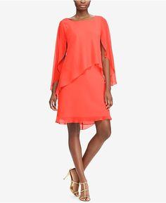 c76aa25b891 Lauren Ralph Lauren Layered Georgette Dress   Reviews - Dresses - Women -  Macy s