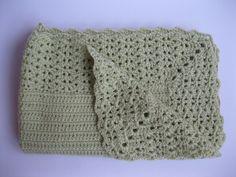 Mint Green Crochet Baby Blanket