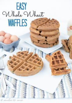 Easy Belgian Waffles | chocolateandcarrots.com. Instead of 1/2 white wheat and 1/2 wheat, I used 1/2 white and 1/2 wheat..added some nutmeg and allspice along with the cinnamon. Came out great. Using the original recipe was kind of bland to me but that's just my taste.