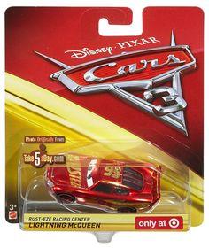 577a398fb86 Mattel Disney Pixar CARS 3  Lightning McQueen + Rust-Eze Racing Center LM