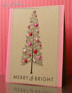 easy and pretty Christmas card - easy