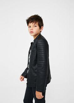 Biker jacket - Boy   MANGO Kids Denmark