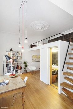 tiny apartment with loft and small bathroom:
