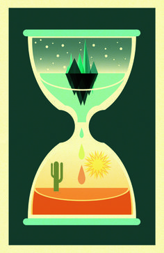 illustration by Patrick Hruby. i'm definitely stuck in the bottom half of this hourglass.