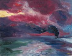 Emil Nolde (1867-1956)Abendliches Herbstmeer - Autumn Evening Sea (1951)oil on canvas68.5 x 88.5 cm