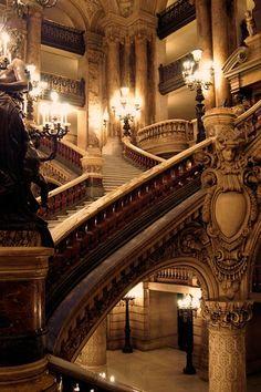 Palais Garnier's Grand Escalier in Paris. #decor #style #opera #beautiful #romantic #charm