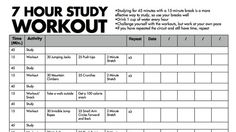 Study and Workout   REPINNED