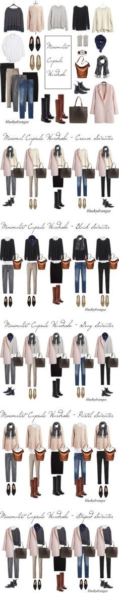 Minimalist Capsule Wardrobe - Winter 2015 by bluehydrangea on Polyvore featuring Vince, Vince Camuto, Madewell, Just Female, Carolina Amato, Daniel Wellington, Gap, Cole Haan, J.Crew and Siviglia