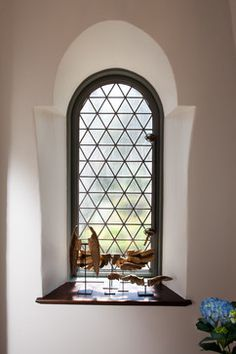 Cottage 52 Foyer & Stair Hall - mediterranean - hall - other metro - Thomas Thaddeus Truett Architect