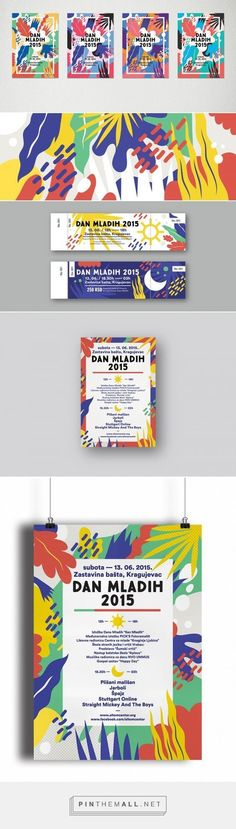 More examples of illustration heavy festival designs that could be really effective for a 'kids festival'